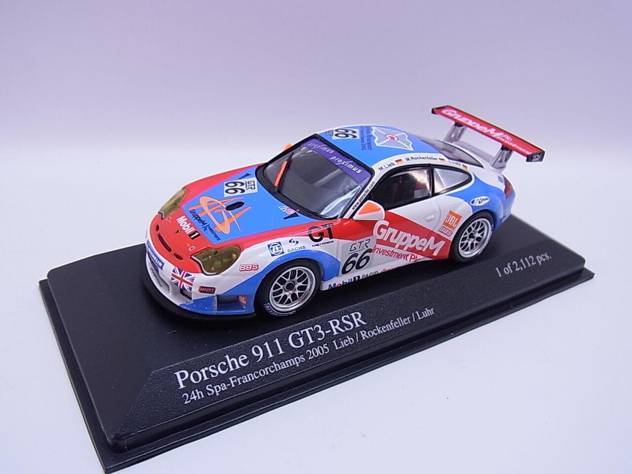 Lot 26145   MINICHAMPS 400056466 Porsche 911 gt3 rsr Voiture Miniature 1 43 dans neuf dans sa boîte