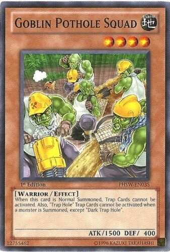 Yugioh 1st Edition Near Mint Goblin Pothole Squad Engl PHSW-EN035 Common