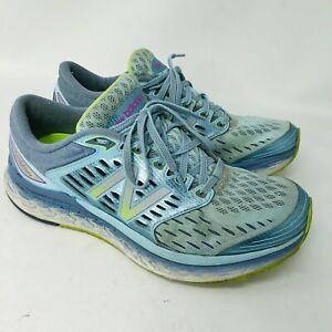 new style 1a165 226c9 Details about New Balance Womens Fresh Foam 1080v7 Running Shoe Blue/Yellow  W1080BY7 Sz 10