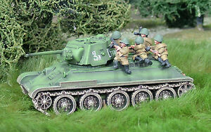 28mm-1-48-WW2-Russian-T34-76-Bolt-Action-Chain-of-Command