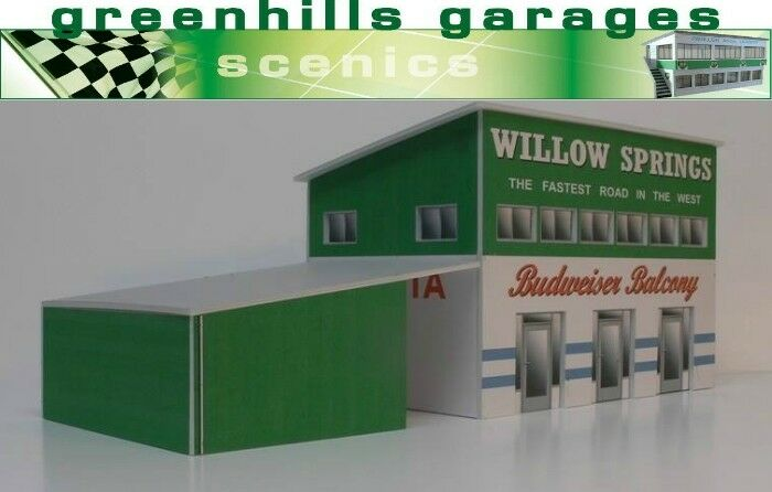 Greenhills Scalextric Slot Car Building Model Willow Springs 1 32 Scale - Bra...