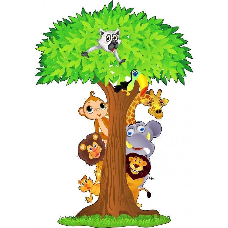 Adesivo Bambino Animali Jungle Ref 15208 15208