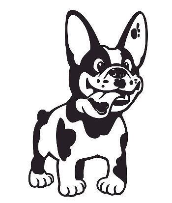 french bulldog vinyl decal sticker car phone laptop cup glass