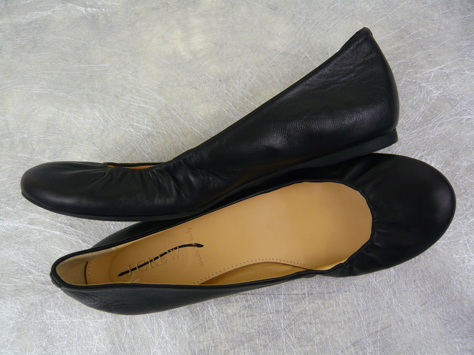 NEW J. CREW CECE LEATHER BALLET FLATS BLACK SIZE 6 Made Made 6 in ITALY f0fad0
