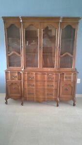 Image Is Loading Solid Wood China Cabinet W Light