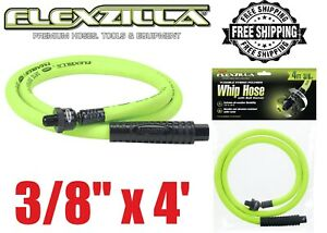 "Flexzilla ZillaWhip 3//8/"" x 4/' Ball Swivel Whip Hose LEGHFZ3804YW2B Brand New!"
