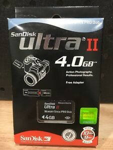 SANDISK-ULTRA-11-4-0-GB-MEMORY-STICK-PRO-DUE-FREE-ADAPTER-NEW-NEVER-USED