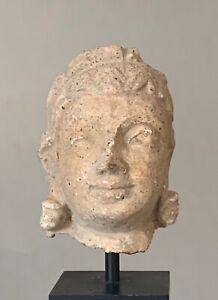 Tete-de-Bouddha-Art-Greco-bouddhique-du-Gandhara-100-a-400-apres-Jc