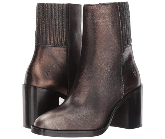 New in Box Womens Frye Pia Chelsea Short Boot Bronze Retail 278 Size 7.5 M