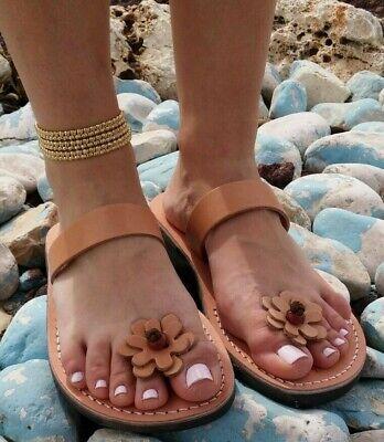 Beautiful Women Ladies Flats Leather Sandals Toe Ring Thong Classic Summer Beach   eBay