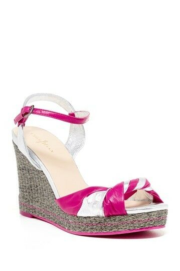 New Cole Haan Air Cascadia High Wedge pink Sandals sz 9