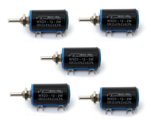 5X WXD3-13-2W 10K Ohm Rotierend Drahtgewickelt Multiturn Pot Drehpotentiometer