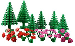 Set of 8 Pine Trees Small Forest Garden Greenery Plant City Town Lot LEGO