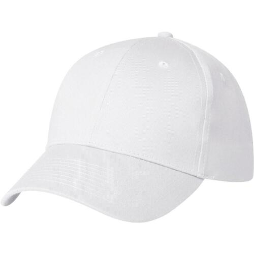 White 6 Panel Baseball Cap New One Size ONLY £3.99