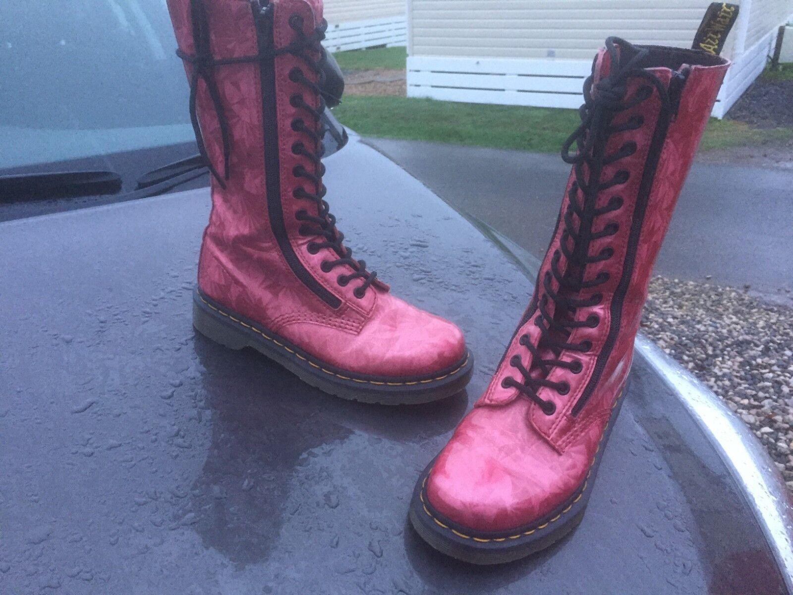 Dr Martens EU 9733 Rojo Brillo botas De Cuero UK 5 EU Martens 38 5c5e02