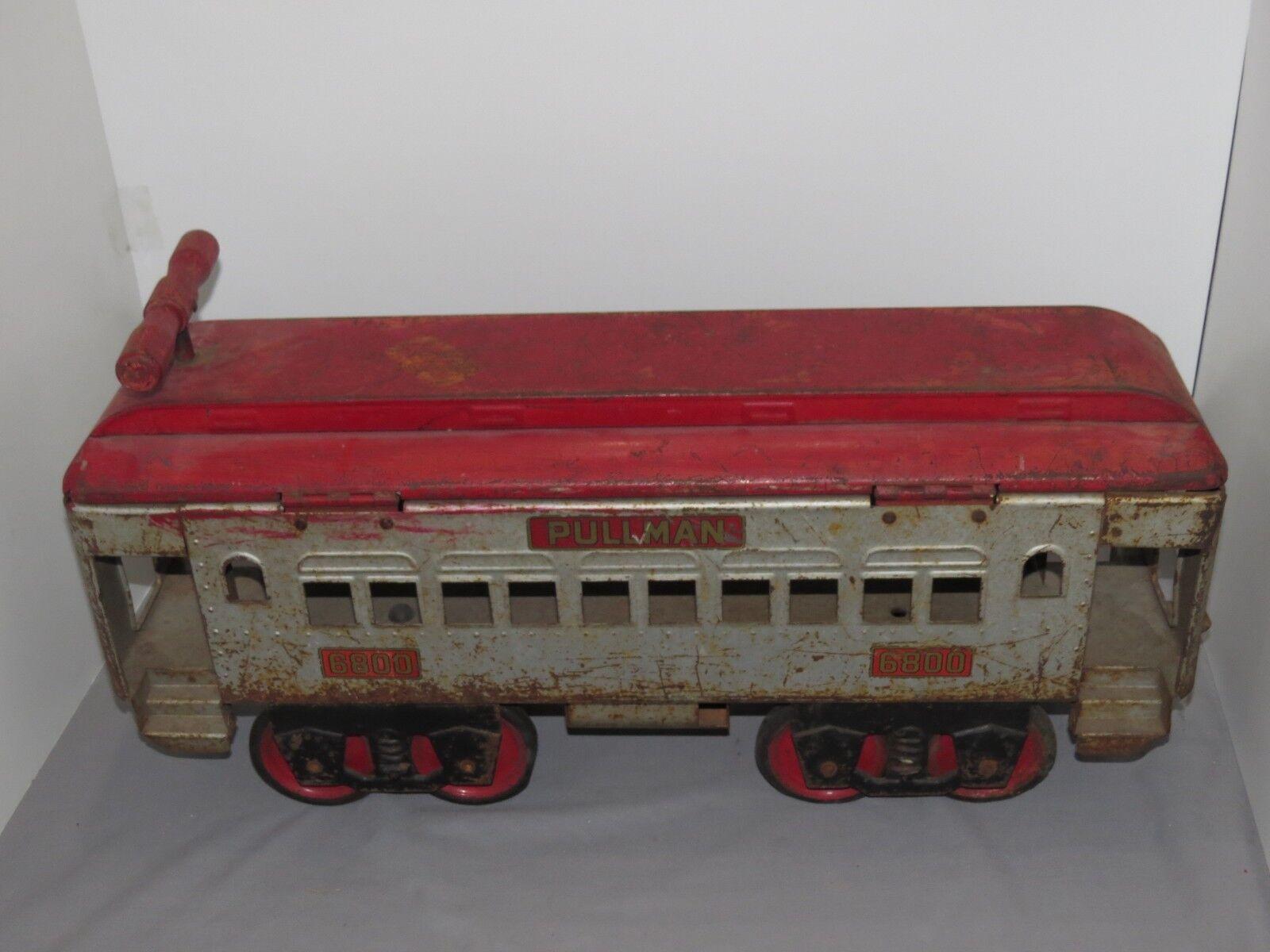Vintage Original 1930's KEYSTONE PULLMAN Pressed STEEL RIDE ON TRAIN Car