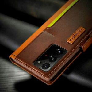 Slim Samsung Galaxy Note 20 Leather Flip Wallet Card Slots Phone Cover Case UK