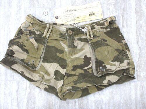 NEW Da-Nang Women/'s Summer Pockets Camo Brown Shorts BCG1791 X-SMALL// XS