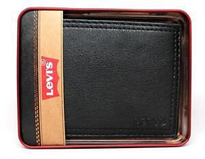 NEW-LEVI-039-S-MEN-039-S-PREMIUM-LEATHER-CREDIT-CARD-ID-WALLET-BILLFOLD-BLACK-31LV1344