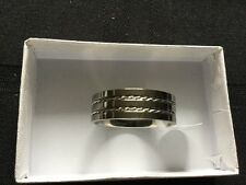 Spikes Braided Accent Titanium Ring- Size 13- Free Shipping