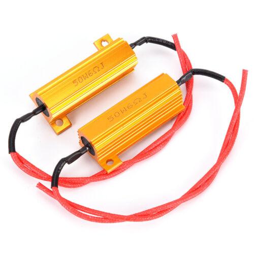 50W 6 ohm RX24 Load Resistor Fix LED Bulb Fast Hyper Flash Turn Signal v-b