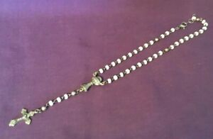 Vintage-Relgious-Rosary-NOT-COMPLETE-ROSARY-jewelry-repair-ITALY-Chalice