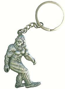 3D, Metal, Big Foot Sasquatch Keychain, 2 inches