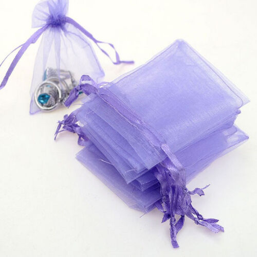 CA 50 Organza  Bags Jewellery Christmas Packing Pouches Wedding Party Favour f