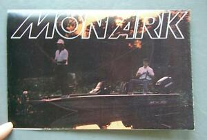 Details about Original 1992 Brunswick Marine Monarch Boats Dealer Fold-Out  Brochure Poster