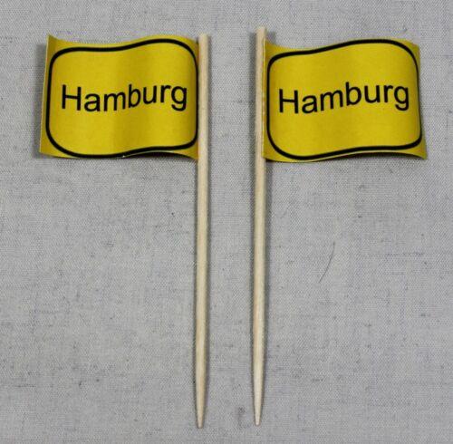 Party-Picker Ortsschild Hamburg 50 Stk Dekopicker Käsepicker Food Flagge