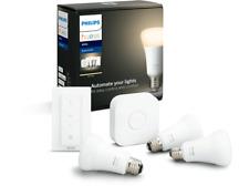 Artikelbild PHILIPS Hue White E27 3-er inkl. Dimmschalter Bluetooth Starter Kit Weiß