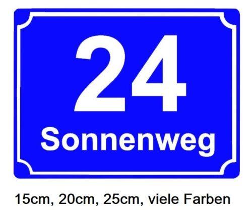 Hausnummern Aufkleber Strassenschild  Adresse Wunschtext Haustüre Briefkasten 49