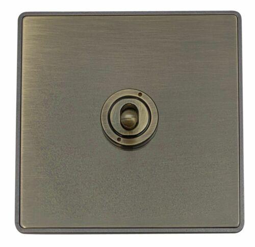 G/&H LAB285 Screwless Antique Bronze 1 Gang Intermediate Toggle Light Switch