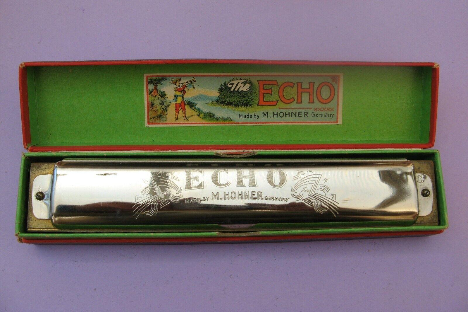 2344 harmonica M.HOHNER ECHO ancien avec étui d'origine