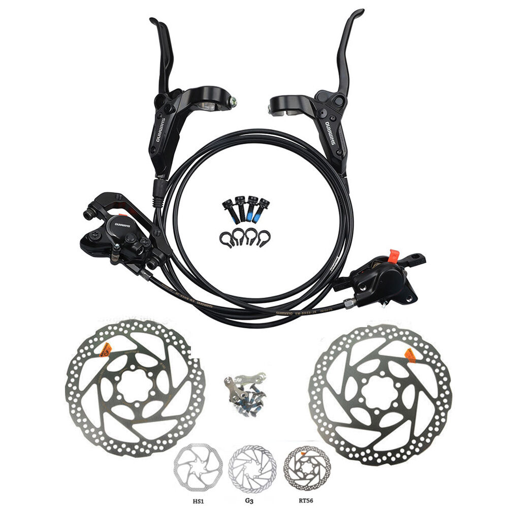 Shimano BR-BL-M315 MTB Hydraulic Disc Brakes Set Pre-Filled with 160mm redor