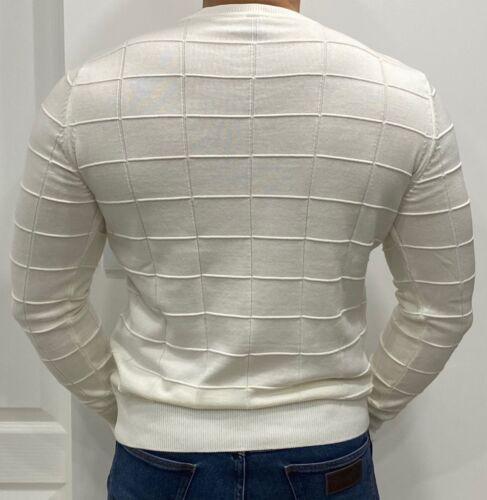 New White//Cream Hugo Boss Men/'s Size M Knitwear Sweater Sweatshirt