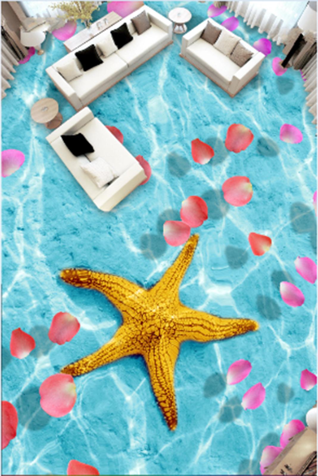 3D Gelb Starfish 419 Fototapeten Wandbild Fototapete Tapete Familie DE Lemon
