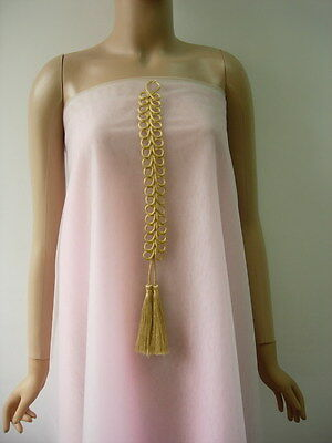 MR201 Long Gold Loops Corded Braided Tassels Fringe jewelry Dressmaker/Sewing