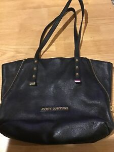 Juicy-Couture-black-leather-handbag-purse