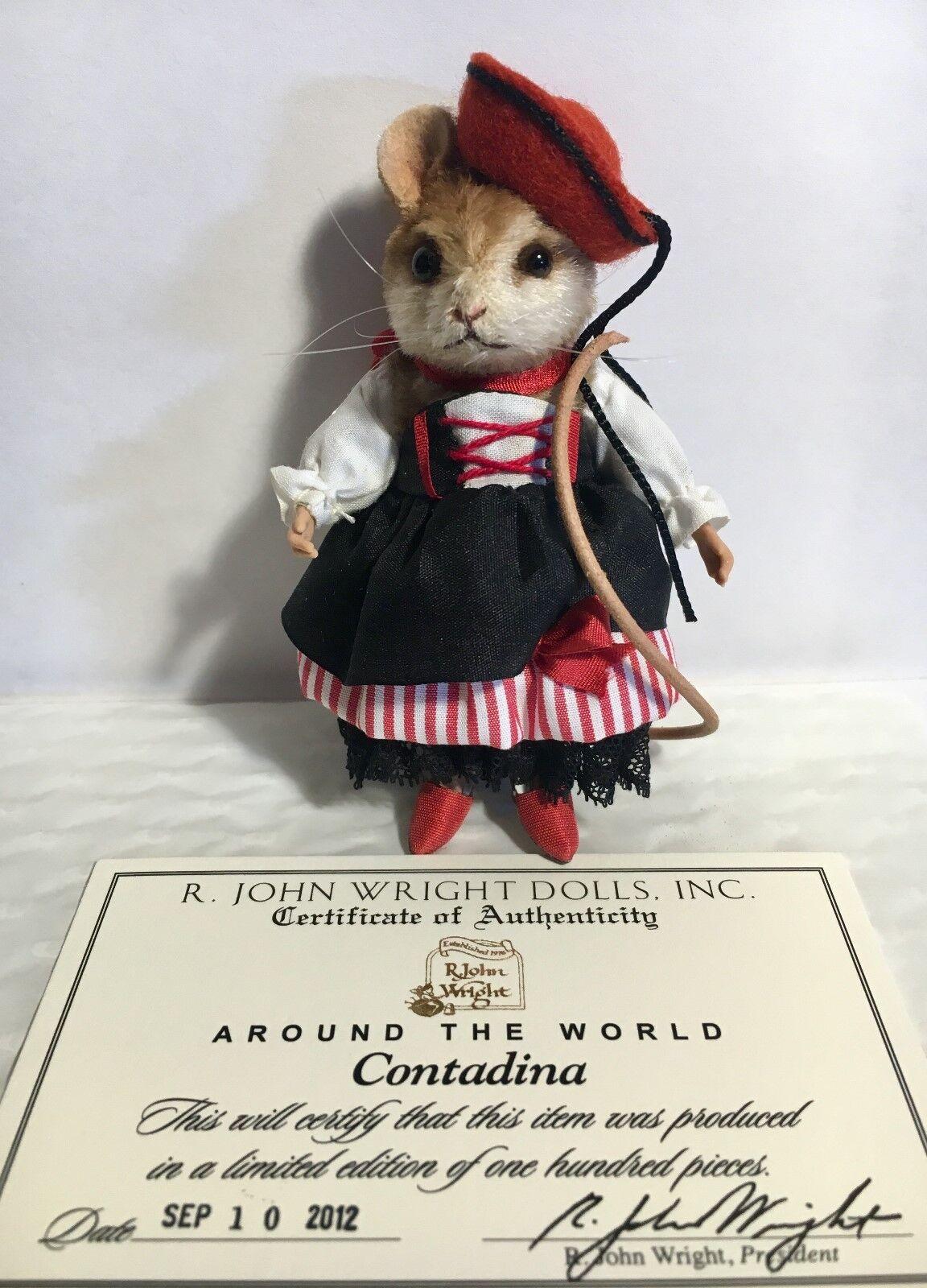 R John Wright ratones-contadina edición limitada de 100 piezas