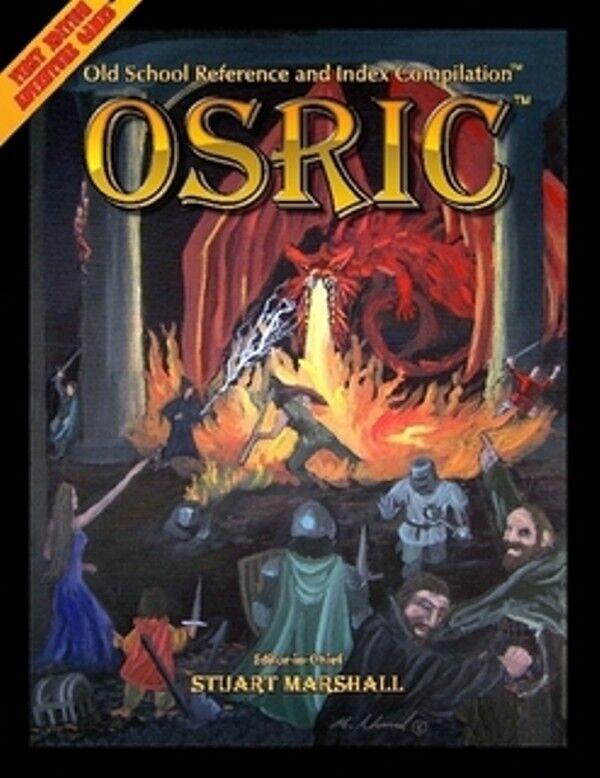 OSRIC 2.2 OSR Core Rules - HARD COVER - Original AD&D 1st Ed RPG Retro-clone
