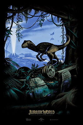 """034 Jurassic World - Upcoming Science Fiction Adventure Film 24""""x36"""" Poster"""