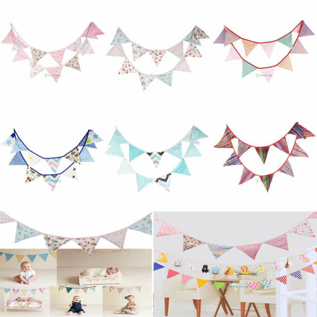 3.2m Flags Lace Vintage Home Party Wedding Garland Pennant Bunting Banner Decor