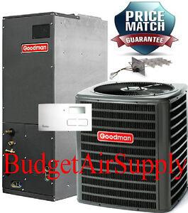 Details about 2 1/2 ton 2 5 ton 13 seer A/C 410a Goodman system  GSX130301+ARUF30B14+Tstat+Heat