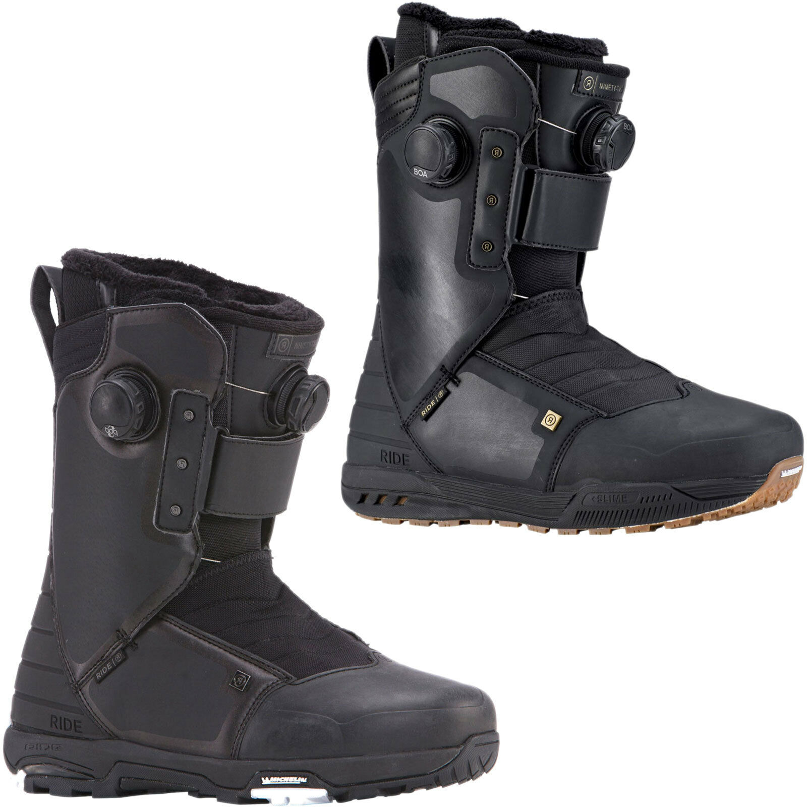Ride 92 Ninety Two Boa Men's Snowboard Boots shoes Soft 2018-2019