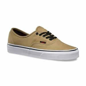 28b11ed71b VANS Authentic (Twill   Gingham) Cornstalk Black Men s Skate Shoes ...