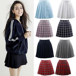 1cd1ee5fde51 Image is loading Lolita-Cosplay-Japan-School-Girls-Anime-Uniform-Pleated-