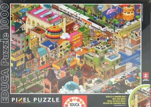 Educa-1000-Pieces-Pixel-Un-Jour-En-Ville-A-Day-In-The-City
