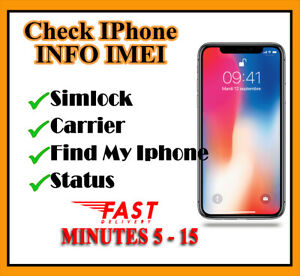 Details about IPhone IMEI Info Checker Simlock Find My Phone Carrier Icloud  Status Fast Check
