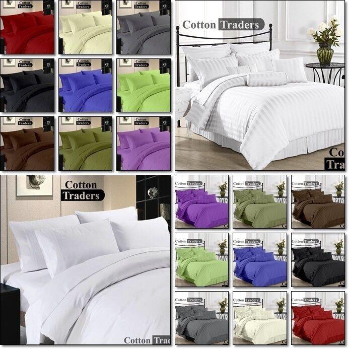 Hotel Collection 5pc duvet set  100% Egyptian Cotton 1000-TC All Size & color